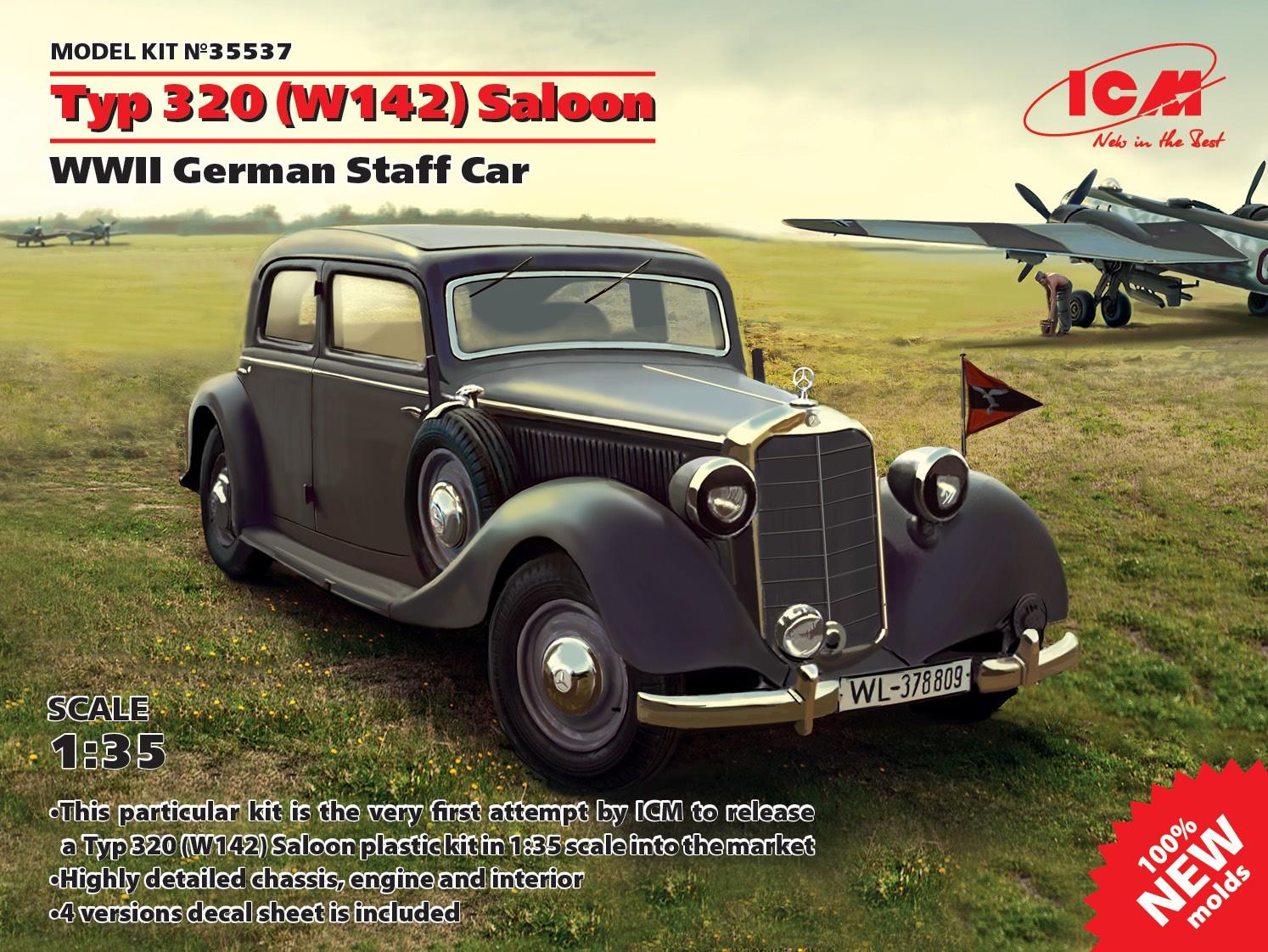 35537_Typ 320 (W142) Saloon, WWII German Staff Car (100% new molds) WEB_EN
