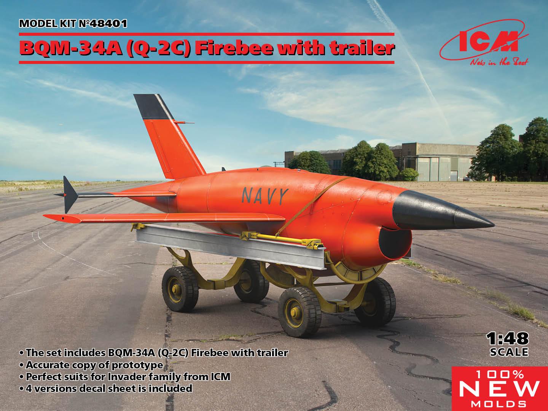 48401_BQM-34A_(Q-2C)_Firebee_with trailer_ICM_en