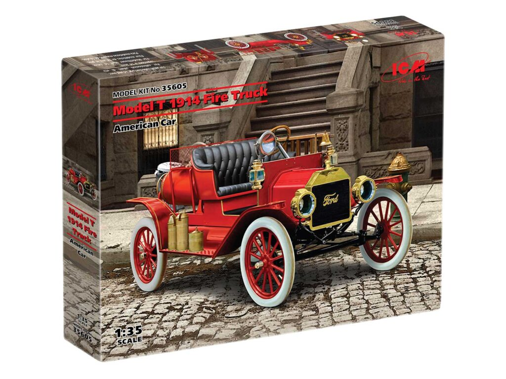 box 35605 model t 1914 fire truck icm