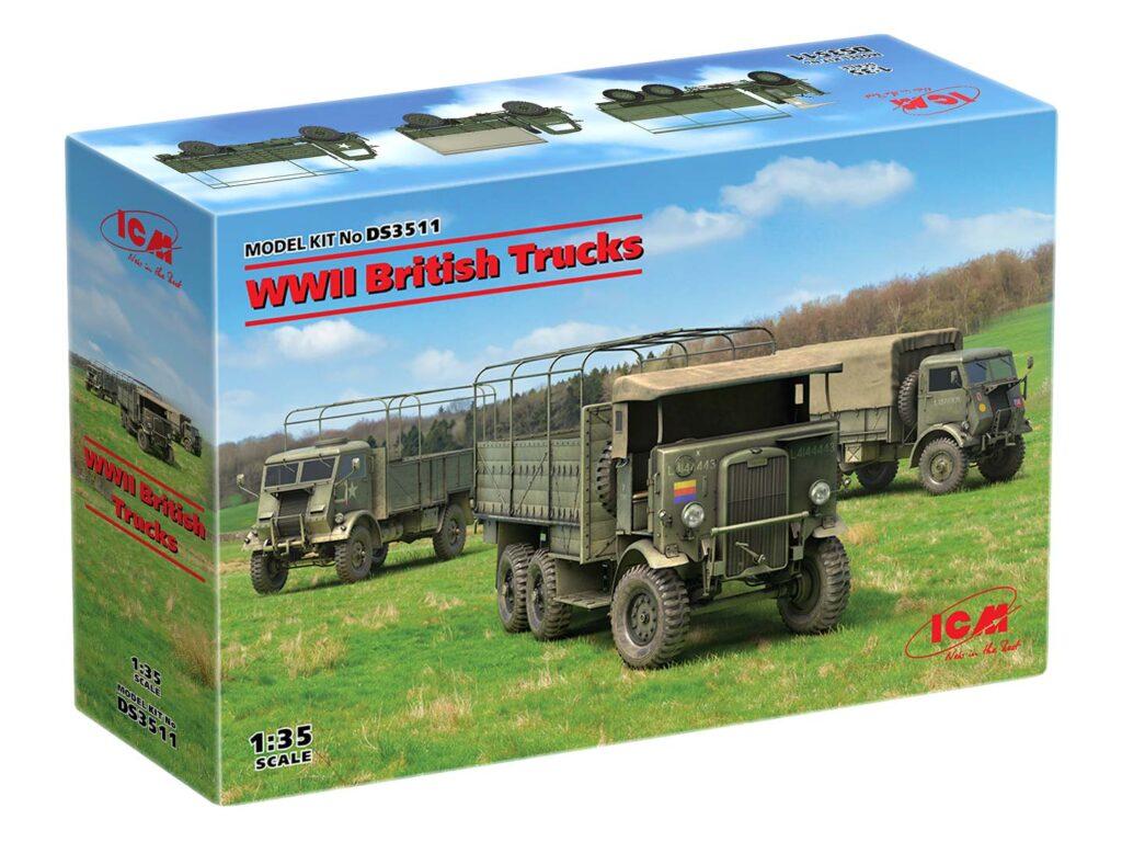 box wwii british trucks icm ds3511