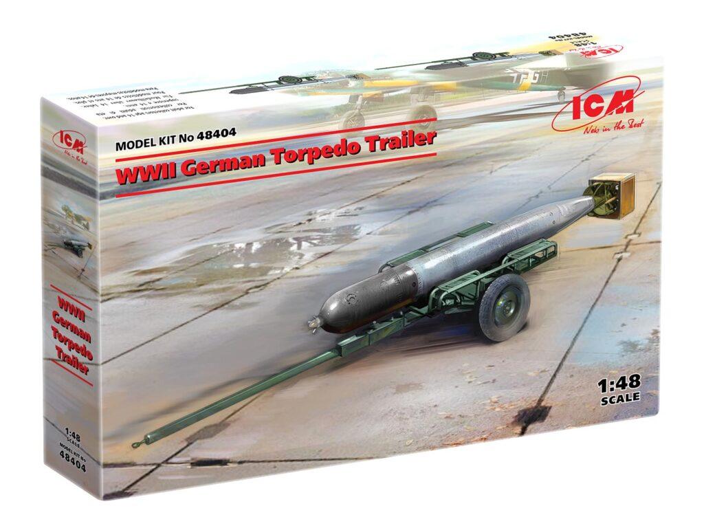 box 48404 wwii german torpedo trailer icm 1