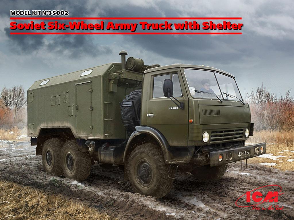 35002 soviet six wheel army truck with shelter icm eng