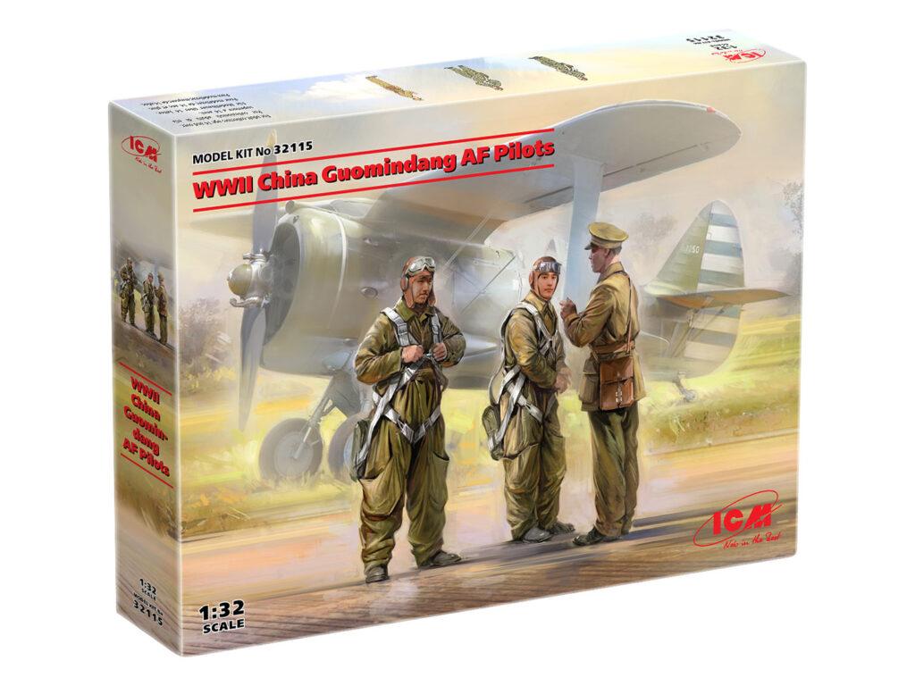 box 32115 wwii china guomindang af pilots icm 1