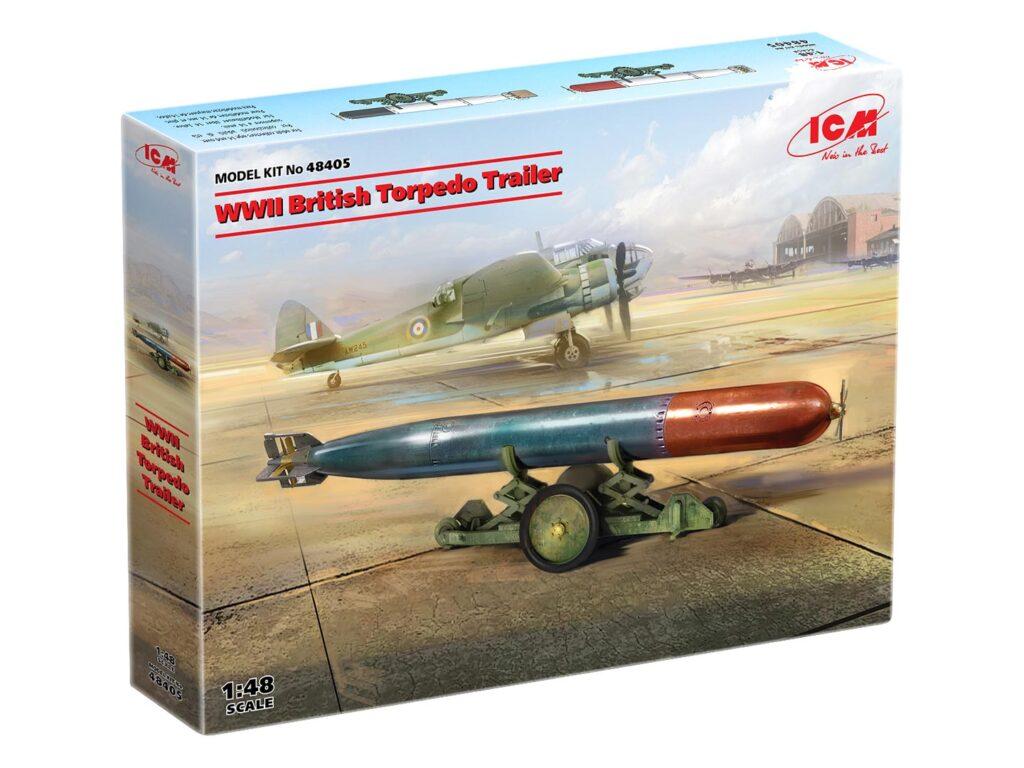 box 48405 wwii british torpedo trailer icm