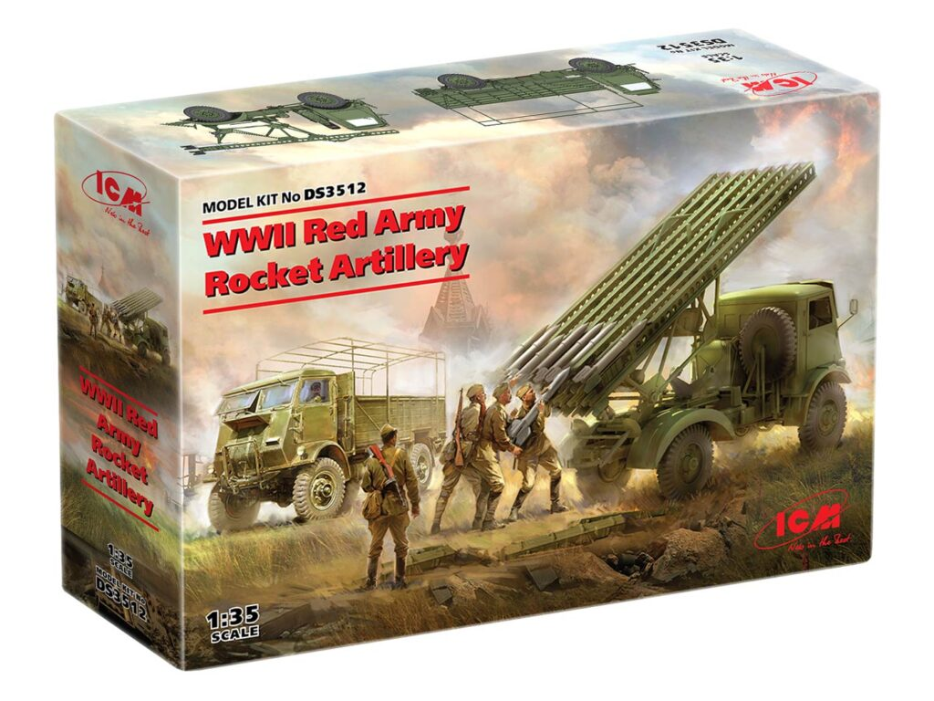 box ds3512 wwii red army rocket artillery icm 1